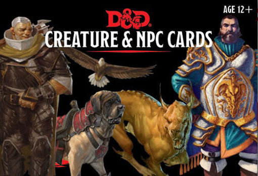 Picture of Dungeons and Dragons RPG: Creatures & NPC Cards (182 cards)