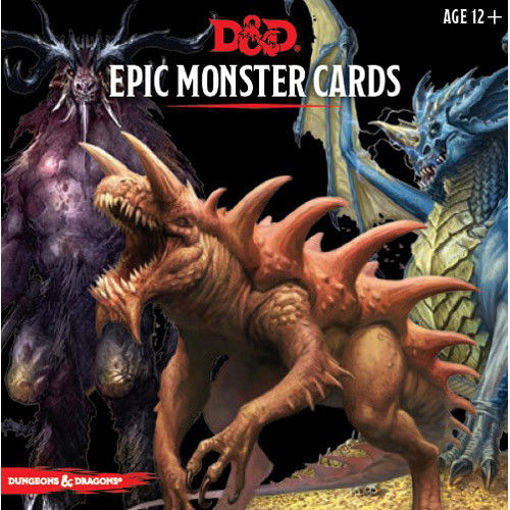 Picture of Dungeons and Dragons RPG: Epic Monster Cards (77 oversized cards)
