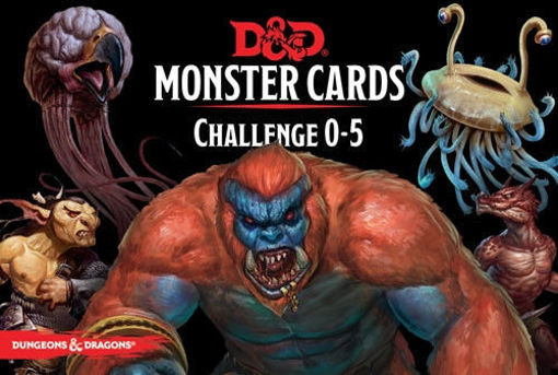 Picture of Dungeons and Dragons RPG: Monster Cards - Challenge 0-5 Deck (268 cards)