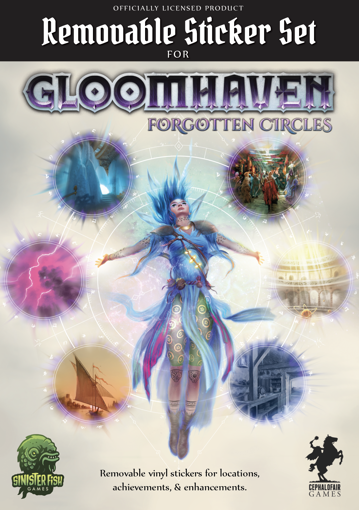 Picture of Gloomhaven Removable Sticker Set: Forgotten Circles