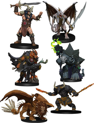 Picture of Dungeons & Dragons Fantasy Miniatures: Icons of the Realms Figure Pack - Descent into Avernus - Arkhan the Cruel and the Dark Order