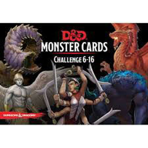 Picture of Dungeons and Dragons RPG: Monster Cards - Challenge 6-16 Deck (125 cards)